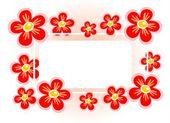 Rám červený květ