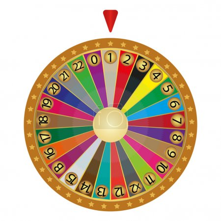 Illustration for Wheel of fortune - Royalty Free Image
