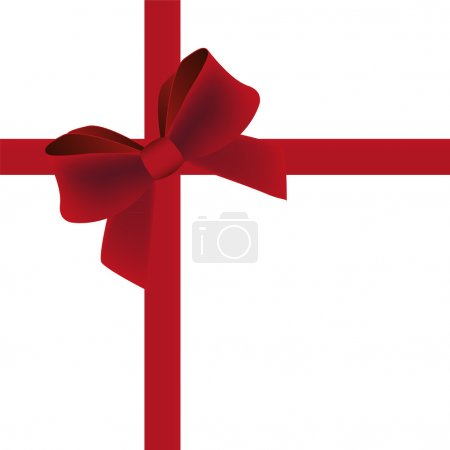 Illustration for Red bow on a white background - Royalty Free Image