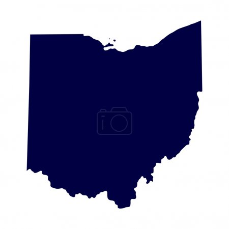 Map of the U.S. state of Ohio...