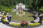 Linderhof castle with lake, Bavaria, Germany