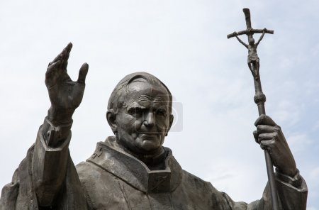 Statue of pope John Paul II in Nitra, Slovak repub...