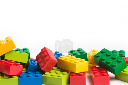 Photo for Lego blocks. The Lego toys were originally designed in the 1940s in Denmark and have achieved an international appeal. - Royalty Free Image