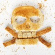 Stock image image of bread skull and crossbones wi...