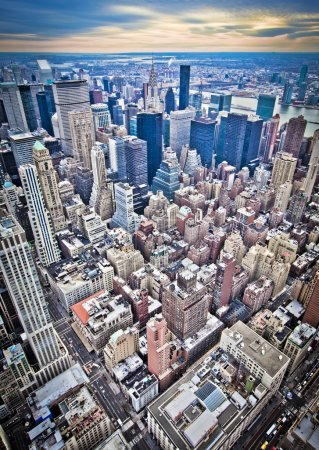 Photo for Midtown Manhattan in New York City from high perspective - Royalty Free Image