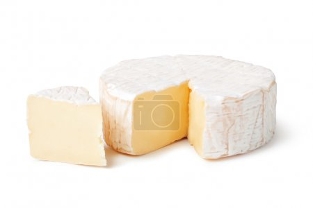 Cheese brie on a white background...