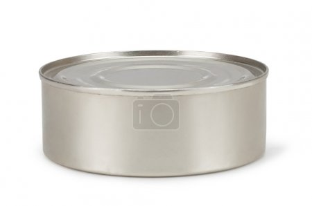 Tin can on white background...