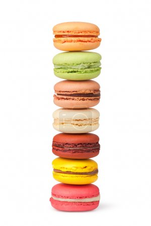 Photo for Tasty colorful macaroon on a white background - Royalty Free Image