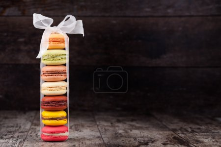 Photo for Macaroons on a wooden table - Royalty Free Image