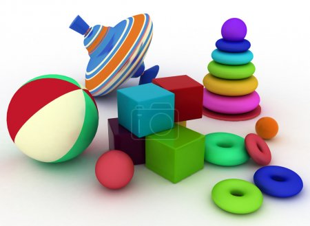 Illustration of child's toys.