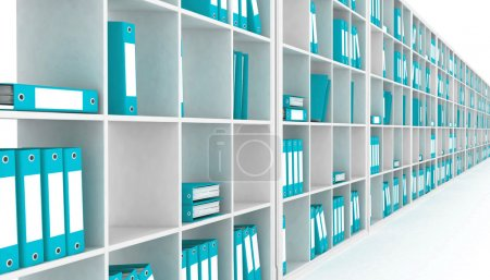 Office closet, isolated on a white background...