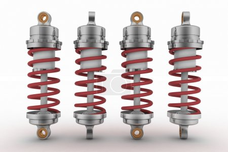 Shock-absorbers isolated on white