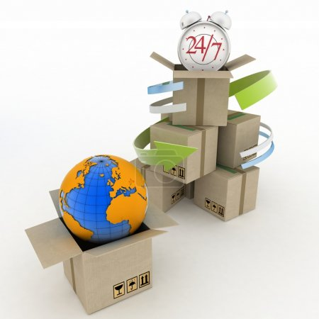 Executing online delivery of goods in the stream 24 hours