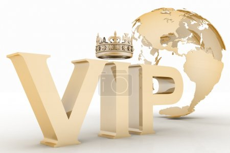VIP abbreviation with a crown