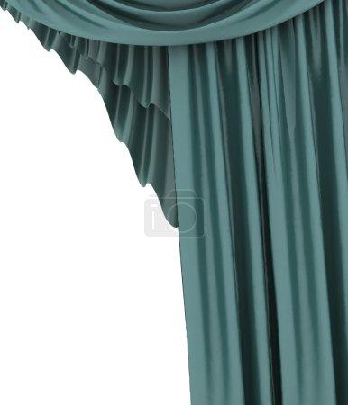 Foto de Abra la cortina azul teatro, fondo - Imagen libre de derechos