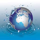 Globe in water