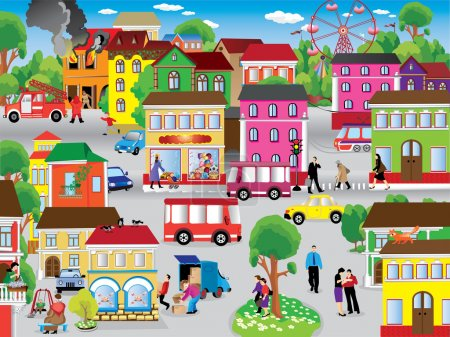 Illustration for City Vector Illustration - Royalty Free Image