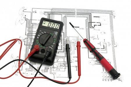 Photo pour Plan électrique - image libre de droit