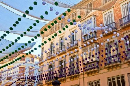 Malaga in fair, Spain. Larios street view.