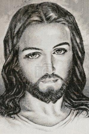 Photo for Handmade fabric portrait of Jesus Christ - Royalty Free Image