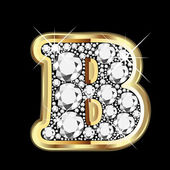 B gold and diamonds bling