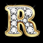 R gold and diamonds bling