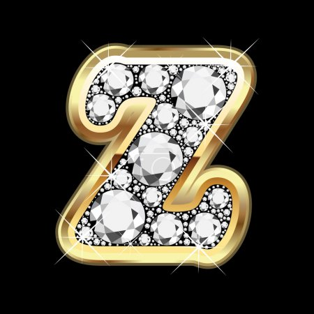 Z gold and diamonds bling