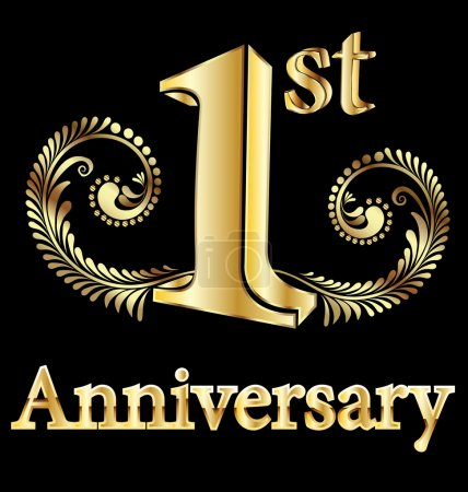 First anniversary happy birthday