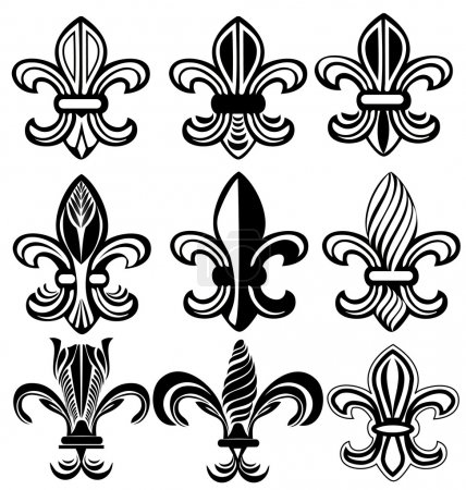 Fleur De Lis, New Orleans silhouettes
