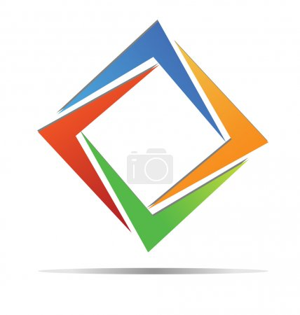 Illustration for Abstract diamond colorful logo vector - Royalty Free Image