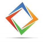 Abstract diamond colorful logo vector...