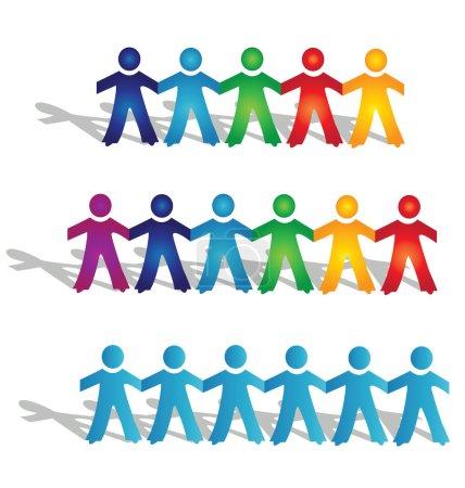 Illustration pour Groupes de travail d'équipe de vector logo - image libre de droit