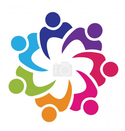Teamwork union logo vector