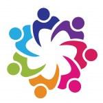 Teamwork union logo vector...