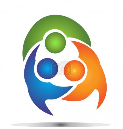 Teamwork group business logo