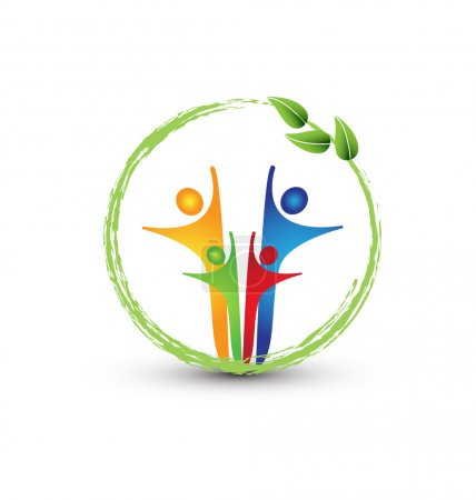 Family and ecology system logo