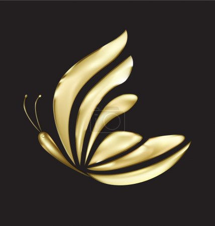 Illustration for Gold butterfly design vector eps10 - Royalty Free Image