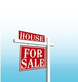 Sign of house for sale vector