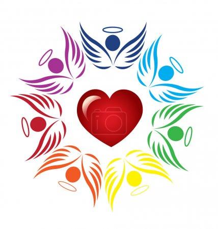Teamwork angels support logo