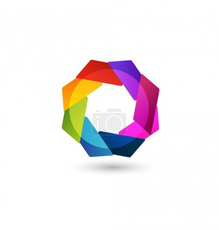 Abstract geometric logo icon app