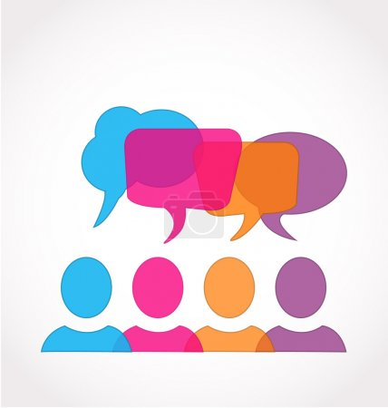 Business social media network speech bubbles company logo
