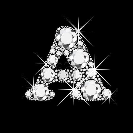 Letter C with diamonds bling bling