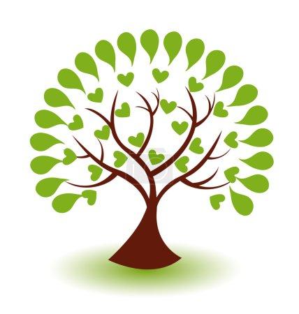 Vector of abstract tree logo