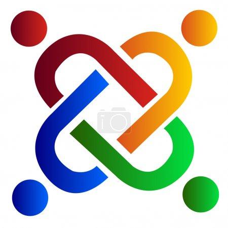 Illustration for Vector of teamwork logo business card - Royalty Free Image