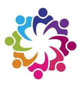 Týmová práce Unie 8 lidí logo vektor