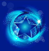 Brilliant blue star background vector