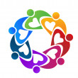 Teamwork hearty people flower concept of union wor...