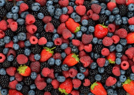 Photo for Background of different berries and fruits - Royalty Free Image