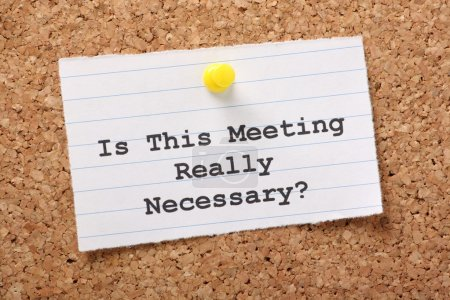 Is this meeting really necessary?