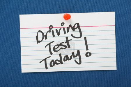 Driving Test Today Reminder
